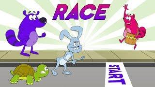 Pyaar Mohabbat Happy Lucky - Ep. 98   Race   Funny Hindi Cartoon Show