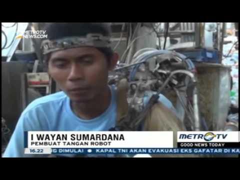 Berita Terkini 23 Januari 2016-Pemuda Di Bali Ciptakan Tangan Robot Di Tubuhnya