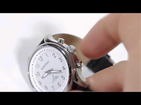 Sprechende Funk-Armbanduhr für Damen Marschall Solar White