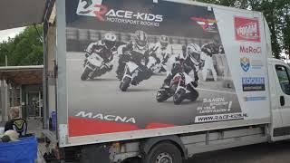 Race-kids Minibike race drone video
