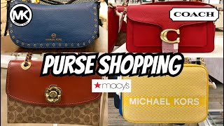 Macy's SHOP WITH ME Designer HANDBAGS Michael Kors COACH & More! PURSE SHOPPING