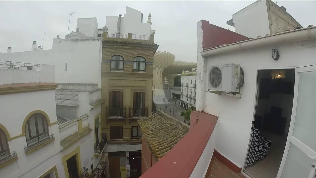 Piso de 1 habitación con terraza en alquiler en el centro de Sevilla