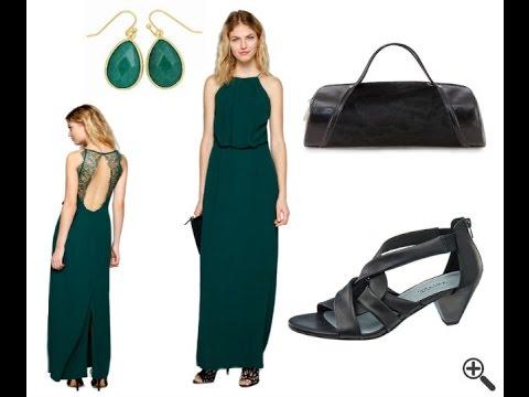 Günstige festliche Kleider zur Hochzeit als Gast - grüne Outfit Ideen