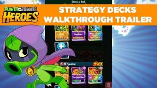 Strategy Decks Walkthrough Trailer | Plants vs. Zombies Heroes