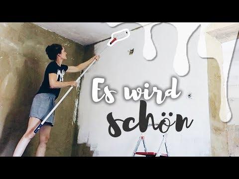 Wand streichen mit Lehmfarbe | Lehmputz Bodenbelag aussuchen | Unser Bauernhaus | Haus Vlog