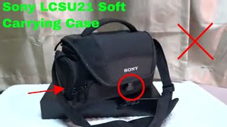 ✅  How To Use Sony LCSU21 Soft Carrying Case Review