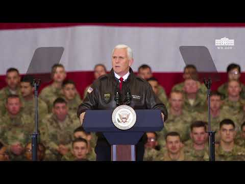 Vice President Pence Remarks to the Troops