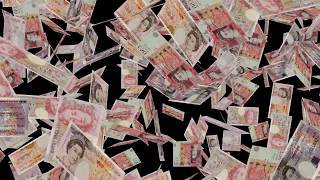 United Kingdom   British currency #England #Pounds #£ falling closeup   Great Britan currency pounds
