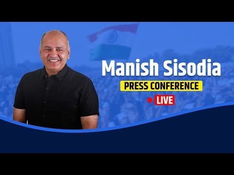 Dy CM Manish Sisodia addressing digital press conference on the fee increase by private school