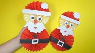 How To Make A Paper Santa | Christmas Craft For Kids