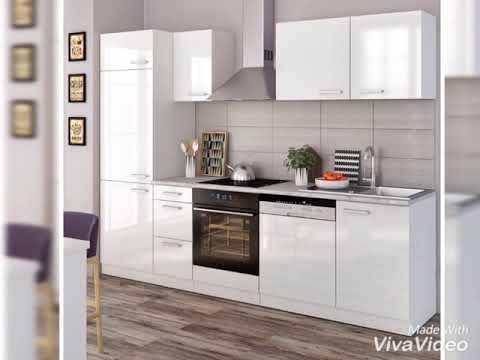 Küchenzeile weiß Hochglanz für unter 400€ www.kuechenzeile-komplett.de