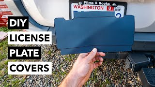DIY License Plate Covers For Video | Never Blur Your Car's Plates In Post Again!