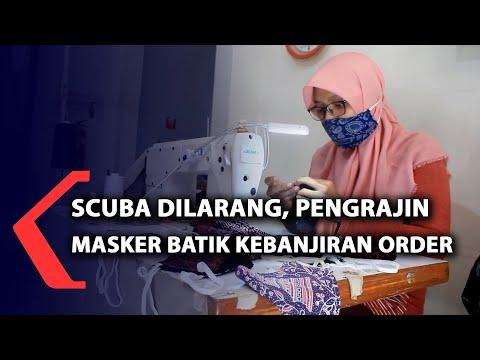 scuba dilarang pengrajin masker batik kebanjiran order