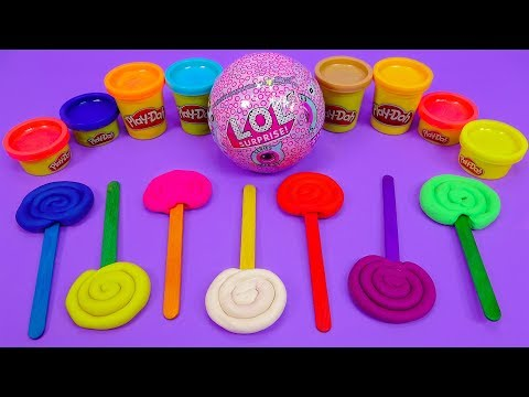 7 COLORS Play Doh Candy LOL Suprise Ball Toys - KiKi Toys