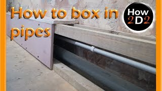 How to box in pipes Pipe box in with MDF PLYWOOD PLASTERBOARD drywall