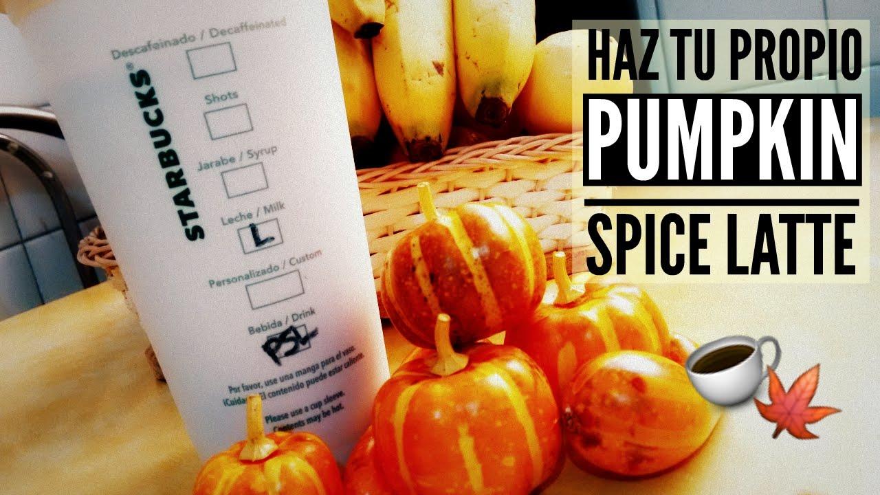 Pumpkin Spice Latte - Recetas Otoñales