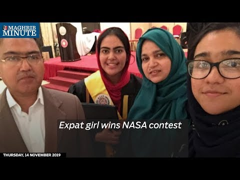 Expat girl wins NASA contest