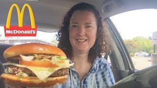 MdDonalds Garlic White Cheddar Burger Review - Video Youtube