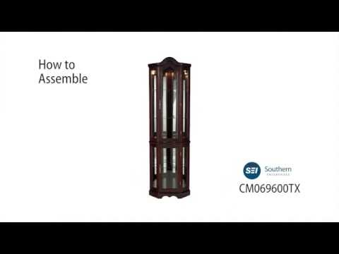 Video for Mahogany Lighted Corner Curio Cabinet