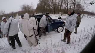 Охота на стаю волков зимой - Видео онлайн