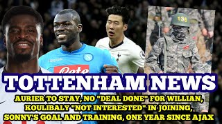 TOTTENHAM NEWS: Aurier to Stay, Nothing Agreed with Willian, Koulibaly Not Interested, Heung-Min Son