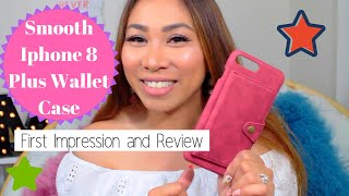 🍭 Smooth Iphone 8 Plus Wallet Case🍭| First Impression & Review| Maureen Scott