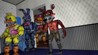Фнаф 4 Битва плюштрап VS кошмарных аниматроников