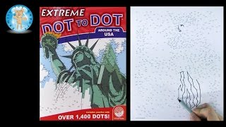 Mindware Extreme Dot to Dot Around the USA Puzzle Book Review - Family Toy Report