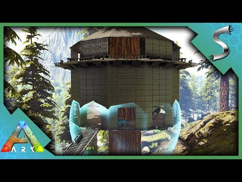 TEK TREEHOUSE BASE! REDWOODS TEK TIER OUTPOST BUILDING!   Ark: Survival  Evolved [S4E104]   Syntac