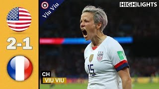 [ Quarter - Final ] USA vs France 2-1 All Goals & Highlights | 2019 WWC