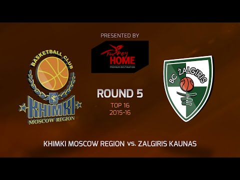 Highlights: Top 16, Round 5, Khimki Moscow Region 111-80 Zalgiris Kaunas