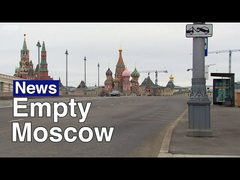 Moscow Streets Empty Out for Coronavirus Quarantine