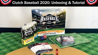 Clutch Baseball 2020 Unboxing & Gameplay Tutorial