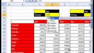 Excel Name Trick #7: INDIRECT function, Names and LOOKUP