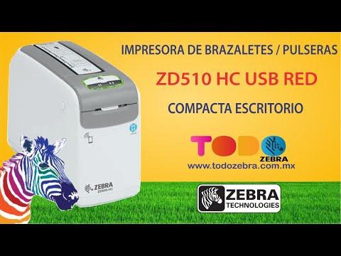 Impresora de Brazaletes ZEBRA ZD510 HC TD USB RED Pulseras