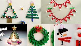 5 Easy Christmas Home Decoration Ideas/Christmas Crafts For Kids School/Christmas Decoration Ideas
