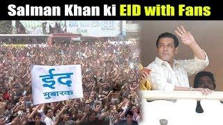 Salman Khan Celebrates EID With Fans At Galaxy Apartment 2018