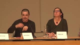 Mahaingurua Jokin Uranga. UEMA / Petra Elser (Banaiz Bagara Elkarteko Zuzendaria) / Idoia Etxeberria