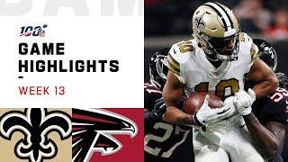 Saints vs. Falcons Week 13 Highlights | NFL 2019