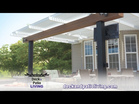 Plan your next outdoor event with confidence! Louvered roofs open and close at the push of a button,...