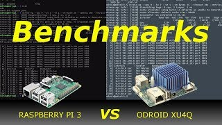 ODROID XU4 vs Raspberry Pi 3 - Stress Test, Mining Monero and Network Interface Benchmark