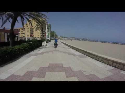 Cycling Cullera Beach, Spain