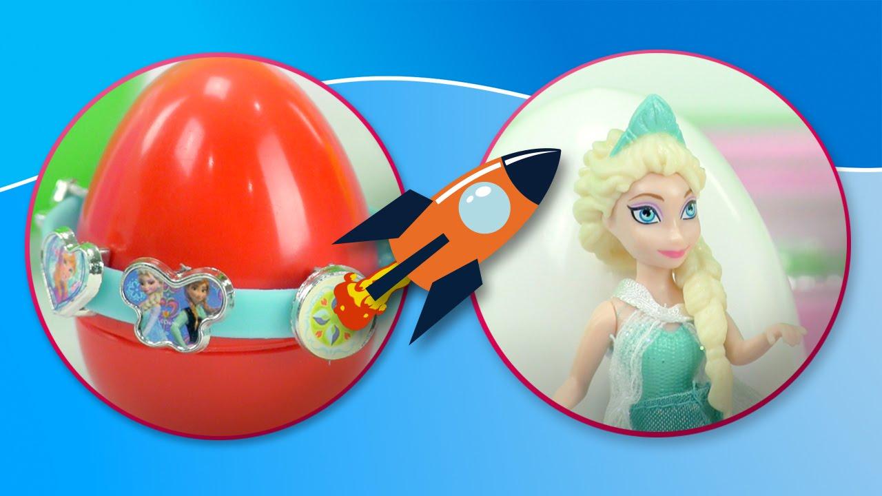 Frozen y los huevos sorpresa | Pulseras de Anna y Elsa