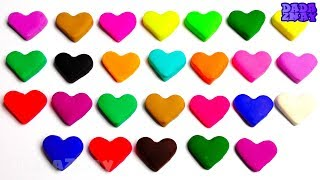 Учим Английский Алфавит Учим цвета с Play Doh сердечками Песенка Про Алфавит ABCD для детей ABC