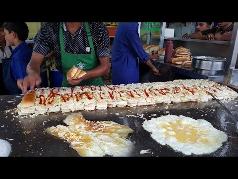 Al Madina Burger Street Food of Karachi Pakistan | Triple Layered 50 Egg Burgers | BUN KABAB