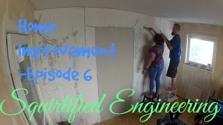 SqE - Home Improvement - Episode 6 - First round of mud on the bedroom wall [Beckers Medium]