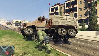 GTA 5 Mods #1 - Khi Hulk nổi loạn (Mod Hulk in GTA V)