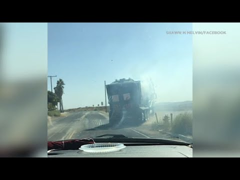 Video: Smoking garbage truck that dumped burning trash, sparking deadly Sandalwood Fire I ABC7