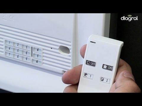 Télécommande 4 fonctions Alarme Diagral