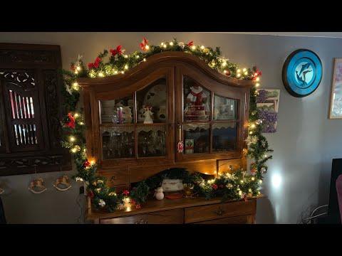 Hengda Girlande Tannengirlande 100 LEDs Warmweiß Weihnachts Beleuchtung Kranz unboxing und Anleitung